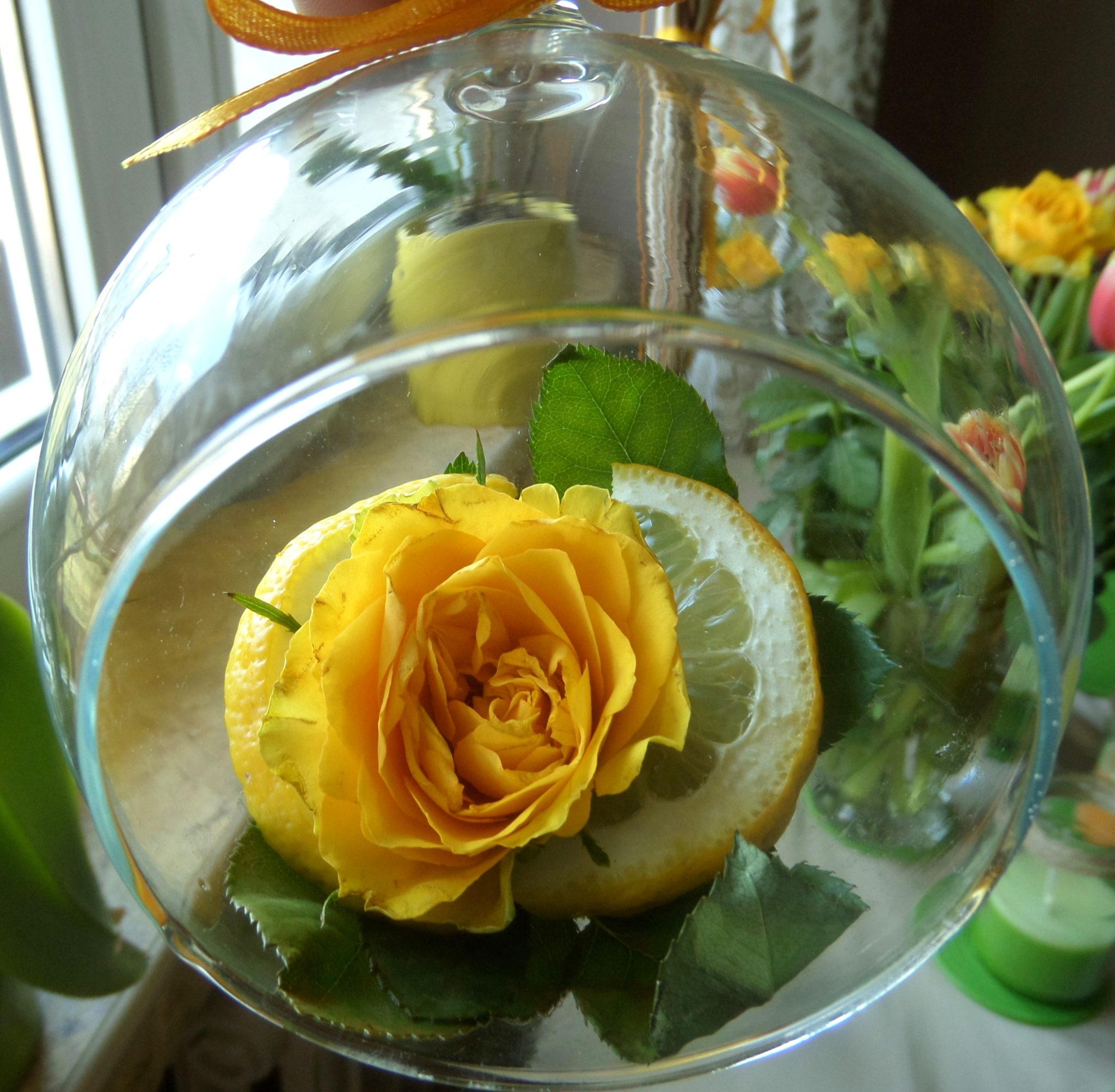 Szklana kula na wiosnę