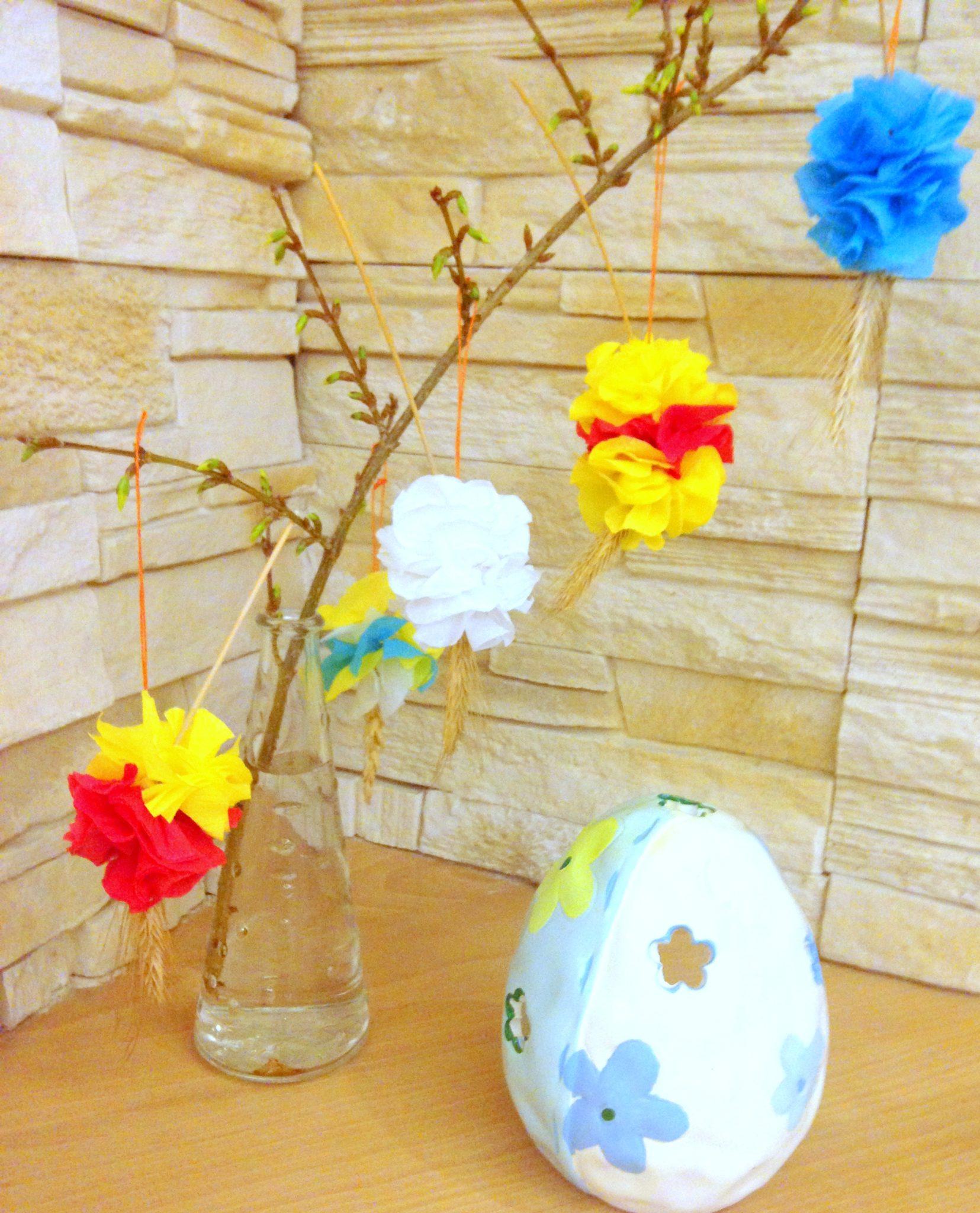 Kolorowe kłosy na Wielkanoc
