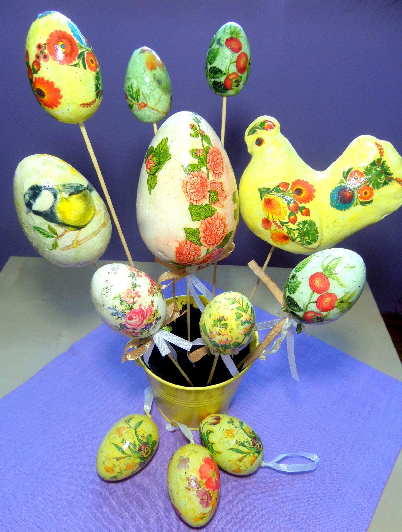 Jajka styropianowe na Wielkanoc
