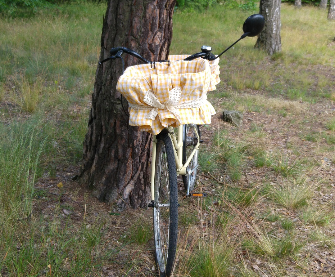 pokrowiec na koszyk rowerowy