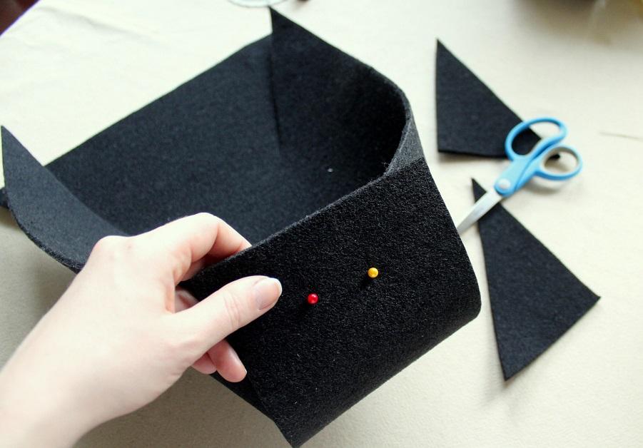 13 - Pudełko z filcu DIY