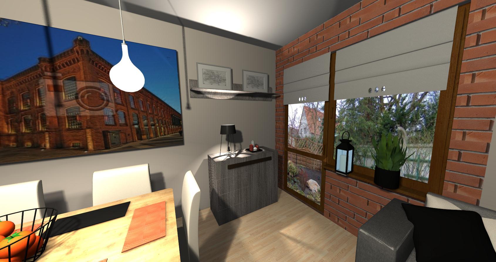Salon Grocika 13 - Salon w stylu industrialnym