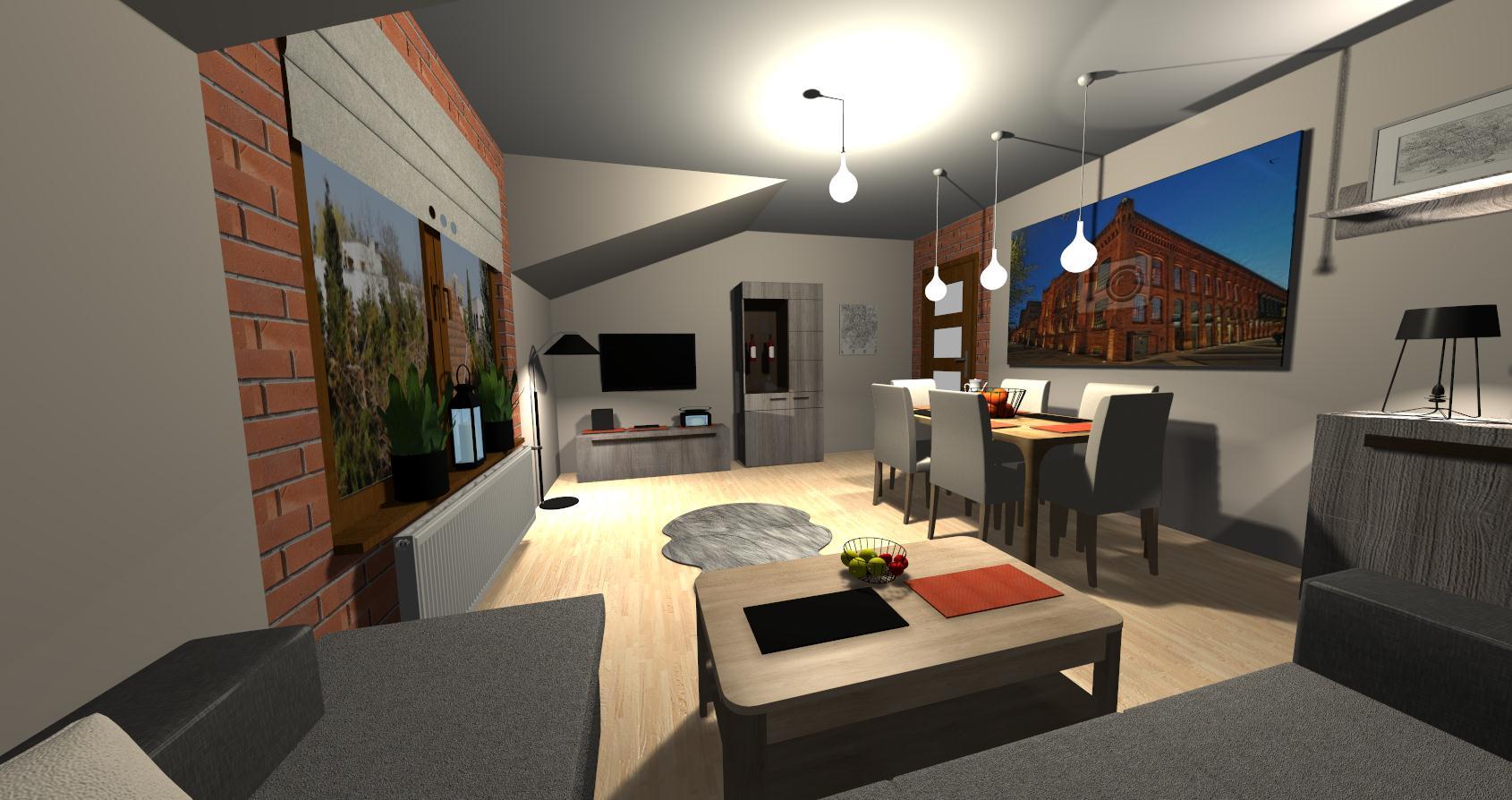 Salon Grocika 21 - Salon w stylu industrialnym