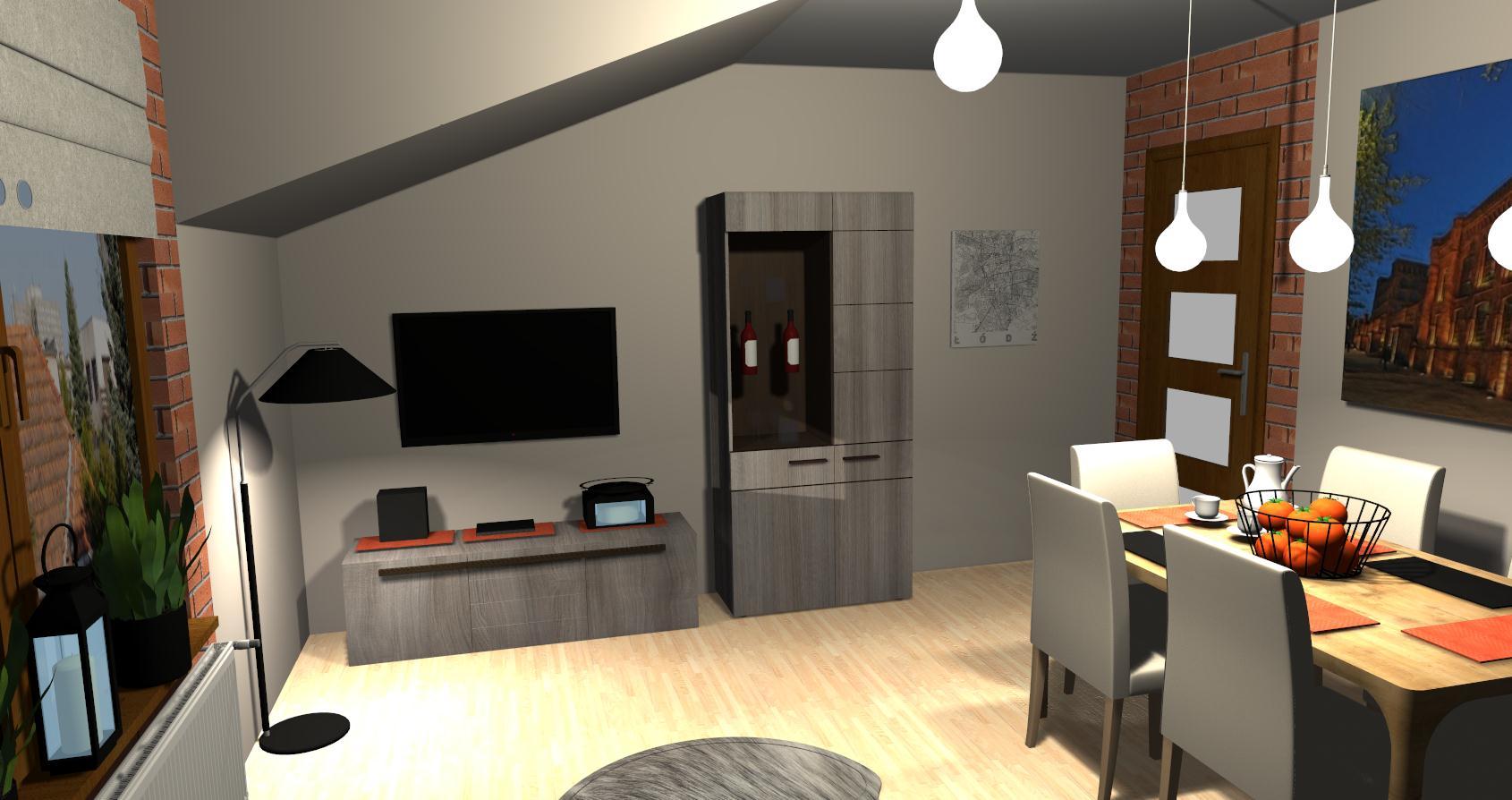 Salon Grocika 24 - Salon w stylu industrialnym