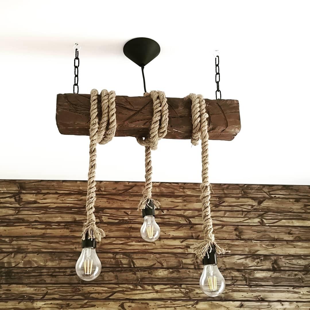 lampy ze sznura wiszące